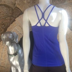Athleta Empowerment Strappy Back Built in Bra Tank
